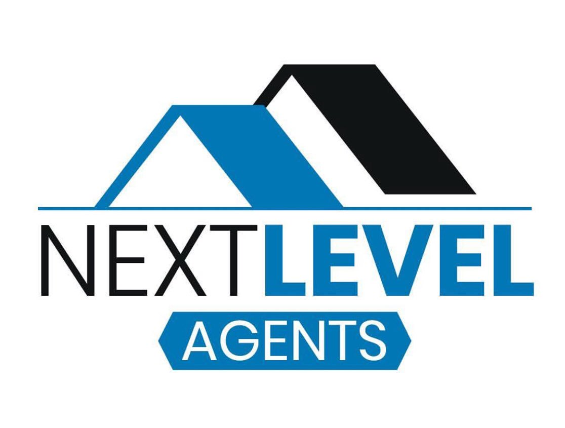 The Next Level Agents logo, two roof peaks over text 'Next Level Agents'
