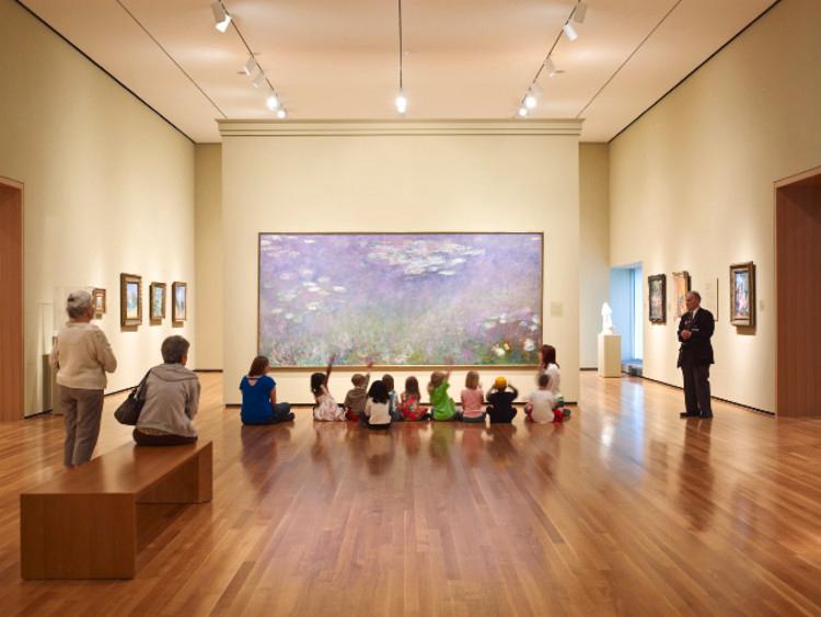children at museum