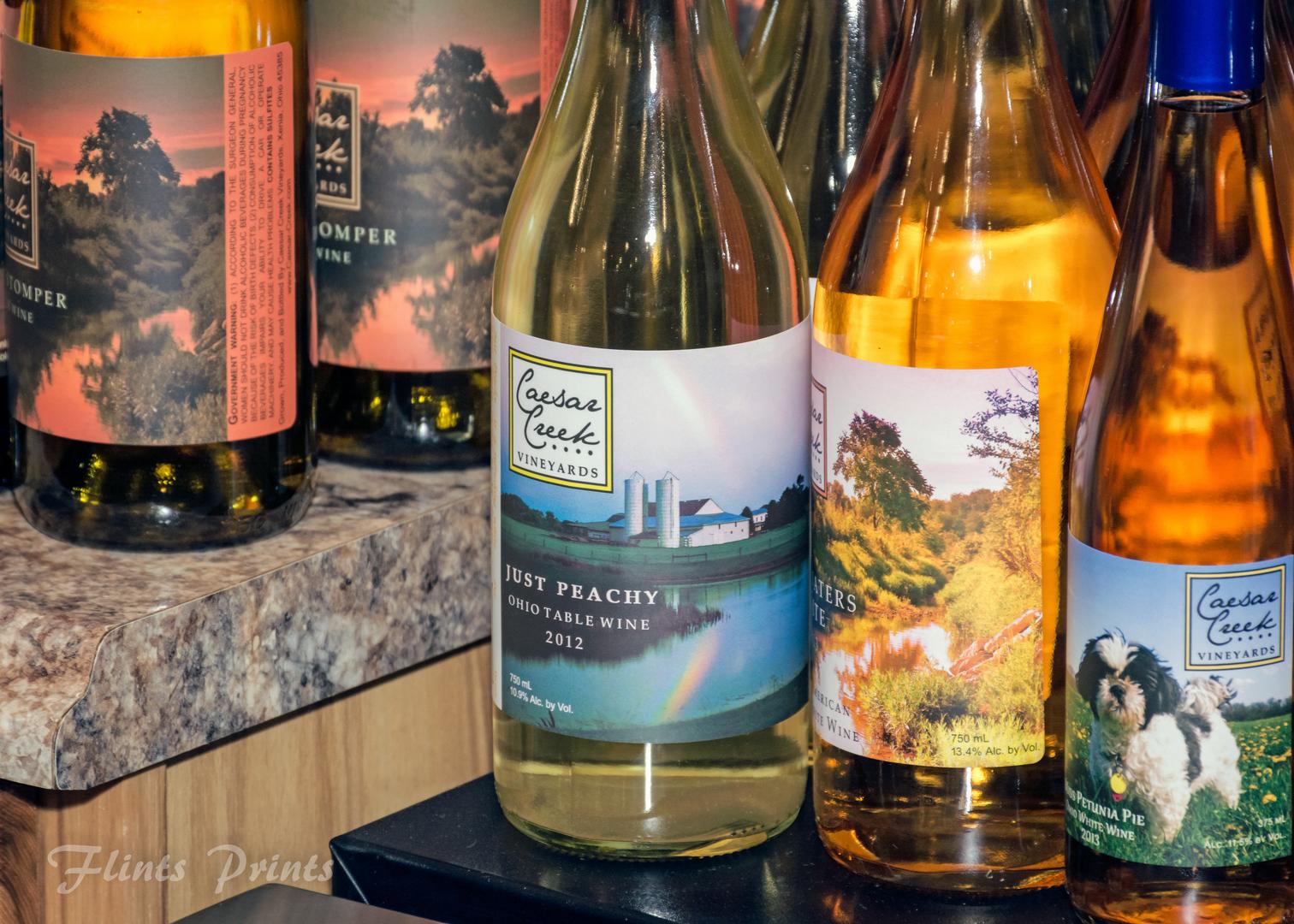 various wine bottles on countertop