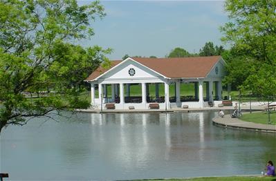 pavilion near water at Shawnee Park