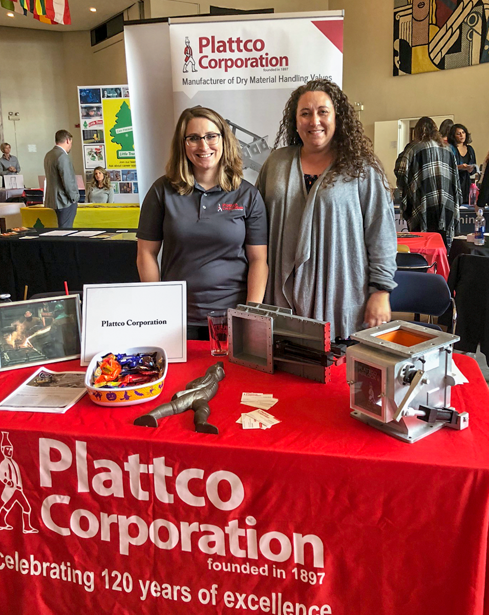 Plattco booth at manufactury career fair
