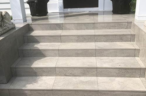 Paving on concrete base
