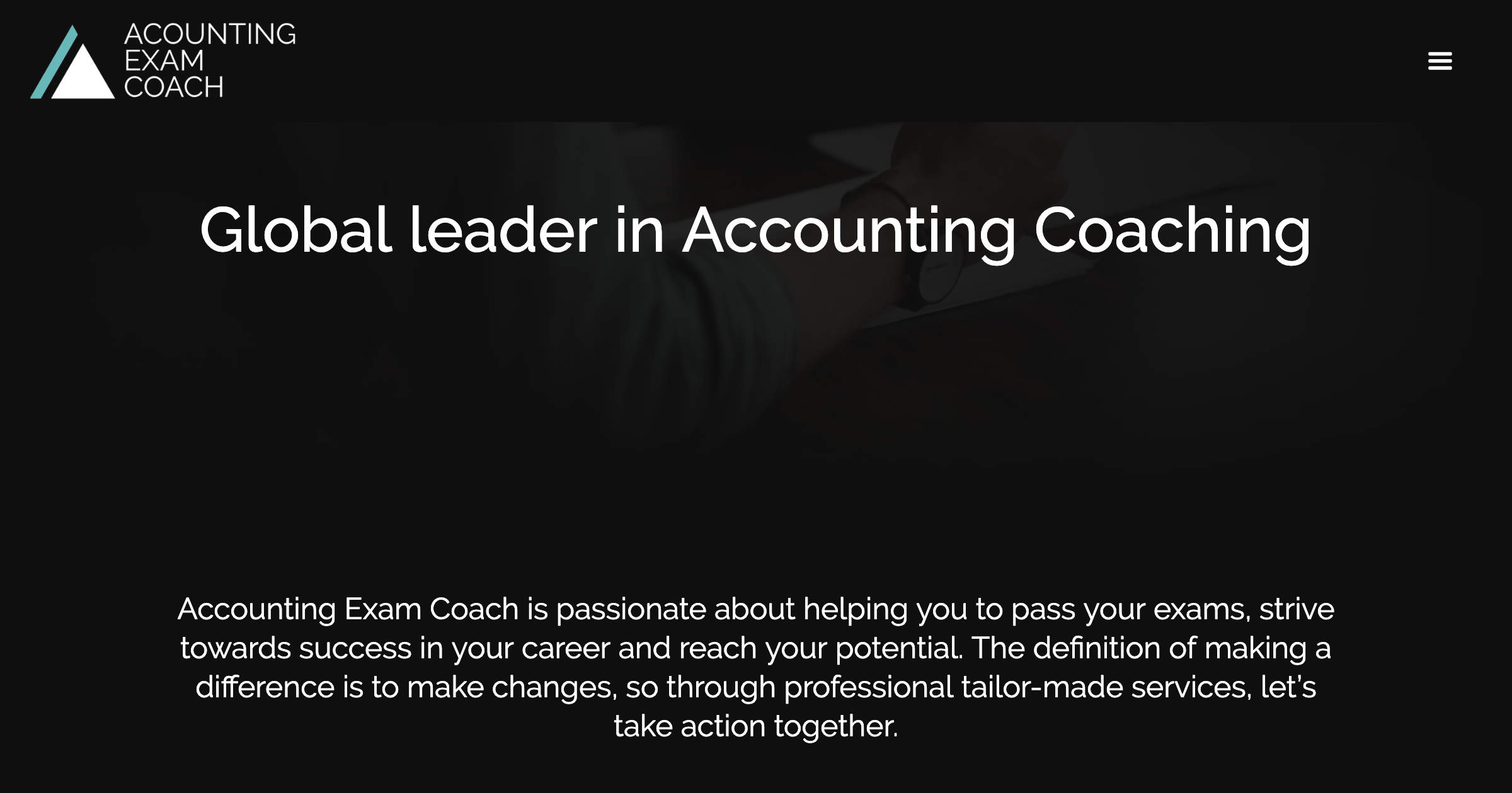 Global leader in Accounting Coaching   James Perry