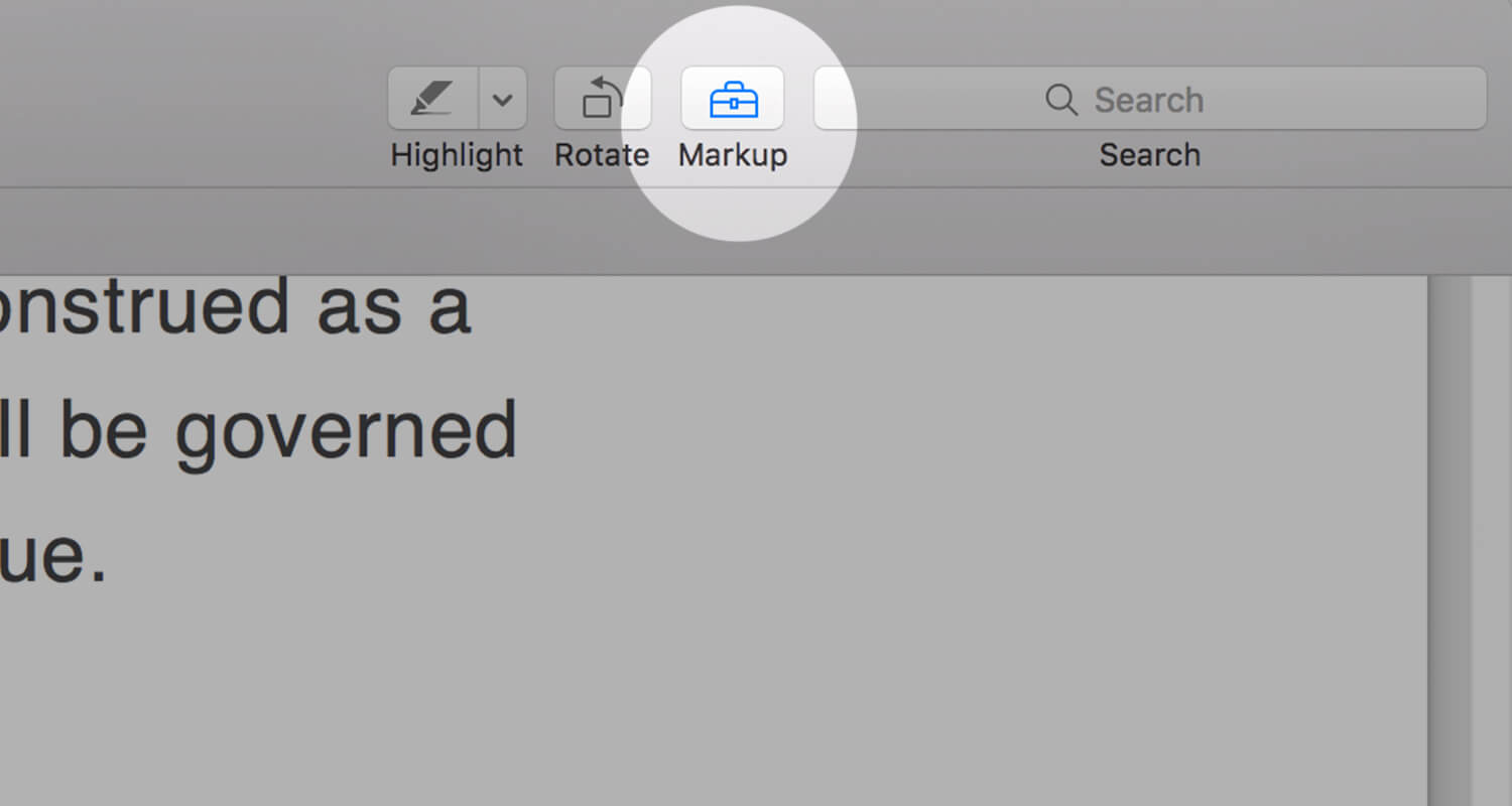 Preview Application- Markup Toolbar