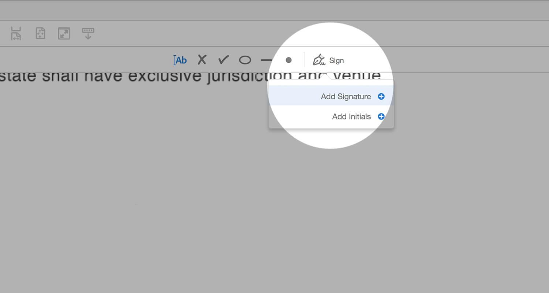 Adobe Acrobat Sign Icon - Add Signature