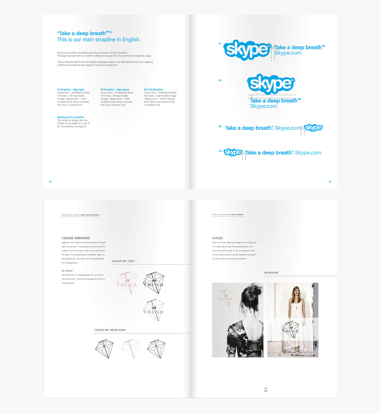 Skype and H&M Brand Guidelines