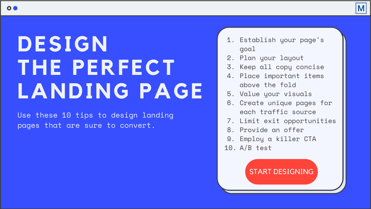 Design the perfect landing page with these 10 tips