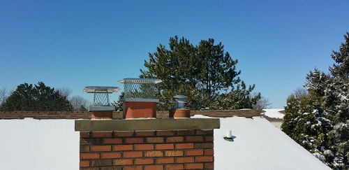 Concrete Chimney Cap with Flues