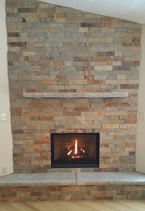 P33 Fireplace Insert, Stone, Hearth & Mantle