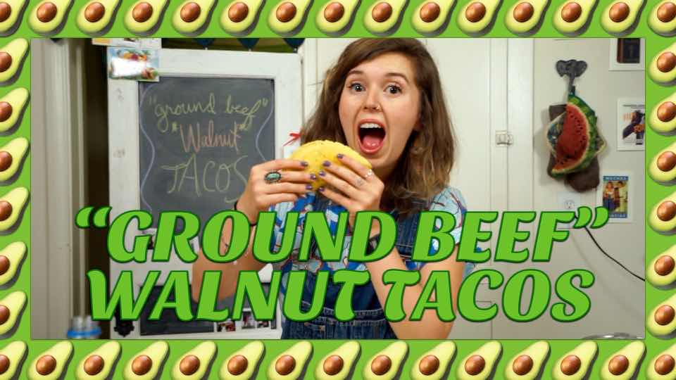 "How to Make Vegan ""Ground Beef"" Walnut Tacos with Avocadamama"