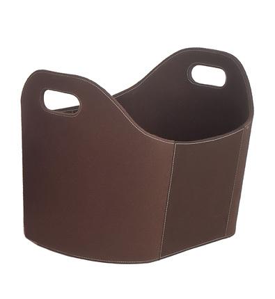 Vedkurv brun
