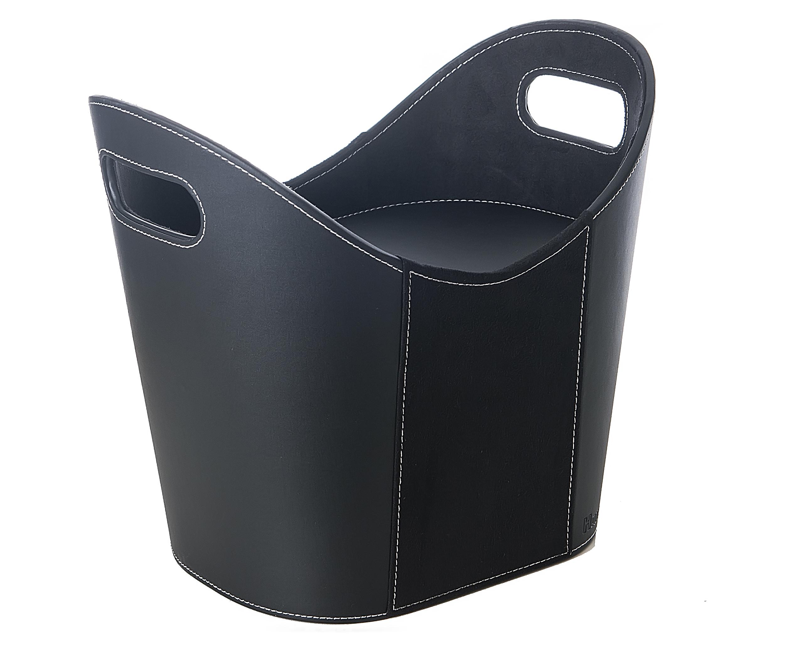 Brikettboks oval m/lokk skinn