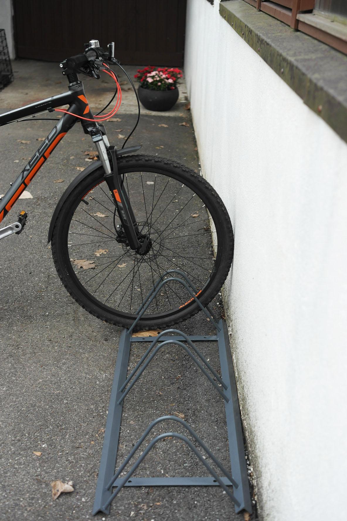 Sykkelstativ for 3 sykler