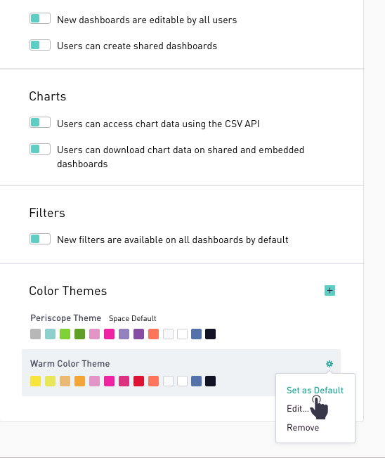 Color Themes | Periscope Data Docs