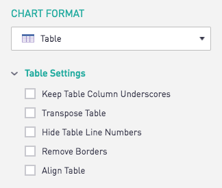 Table Overview | Periscope Data Docs