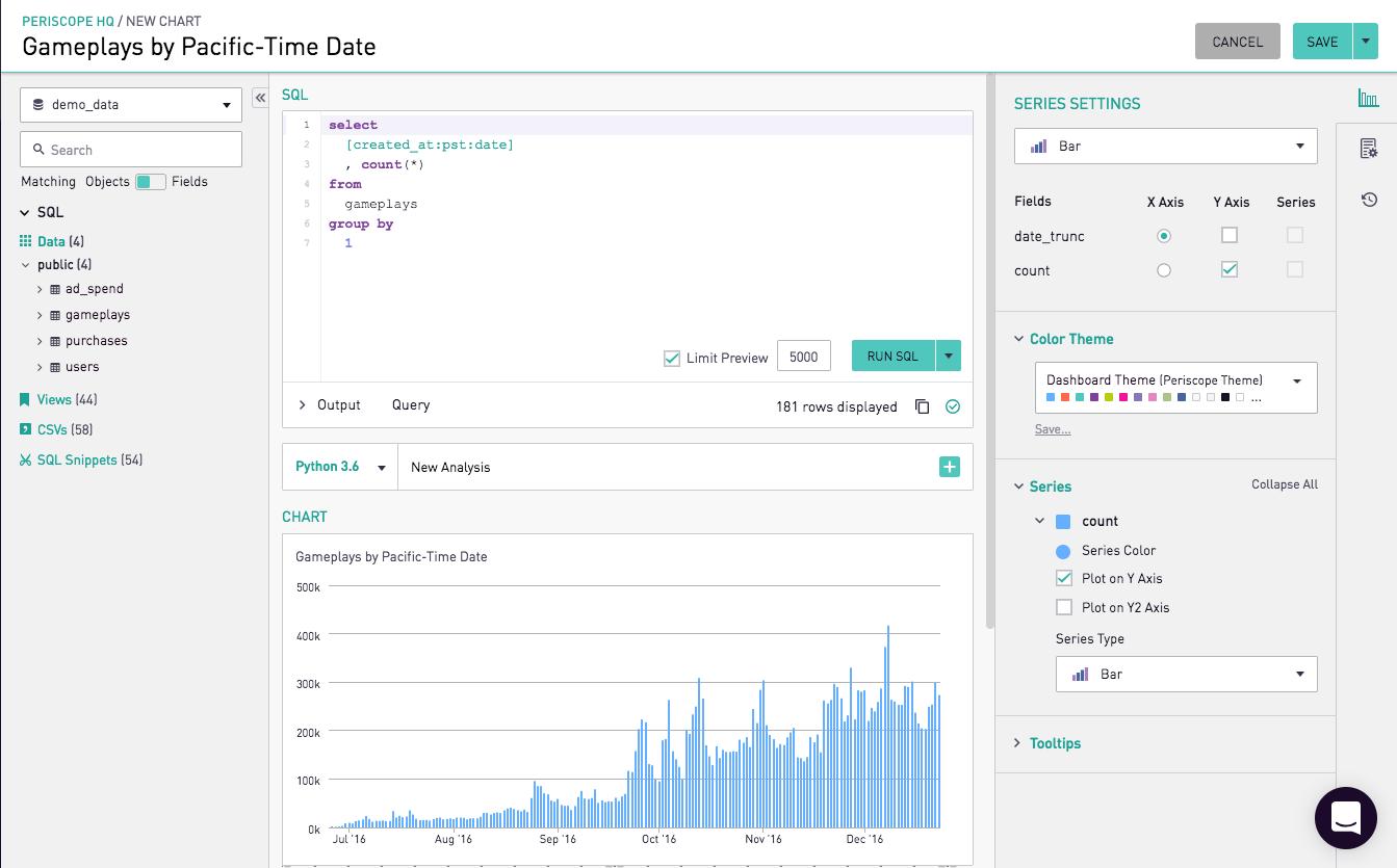 Using SQL Formatters | Periscope Data Docs