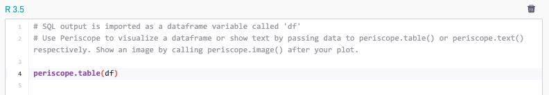 R and Python Integration | Periscope Data Docs
