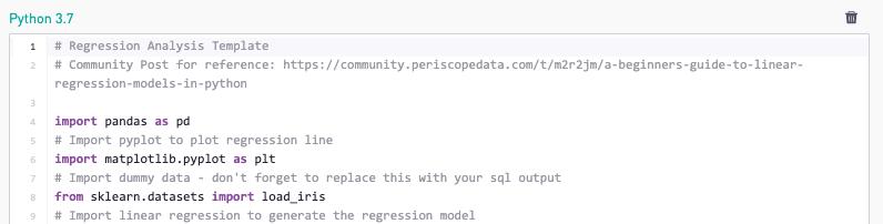 Predictive Analytics Python Example