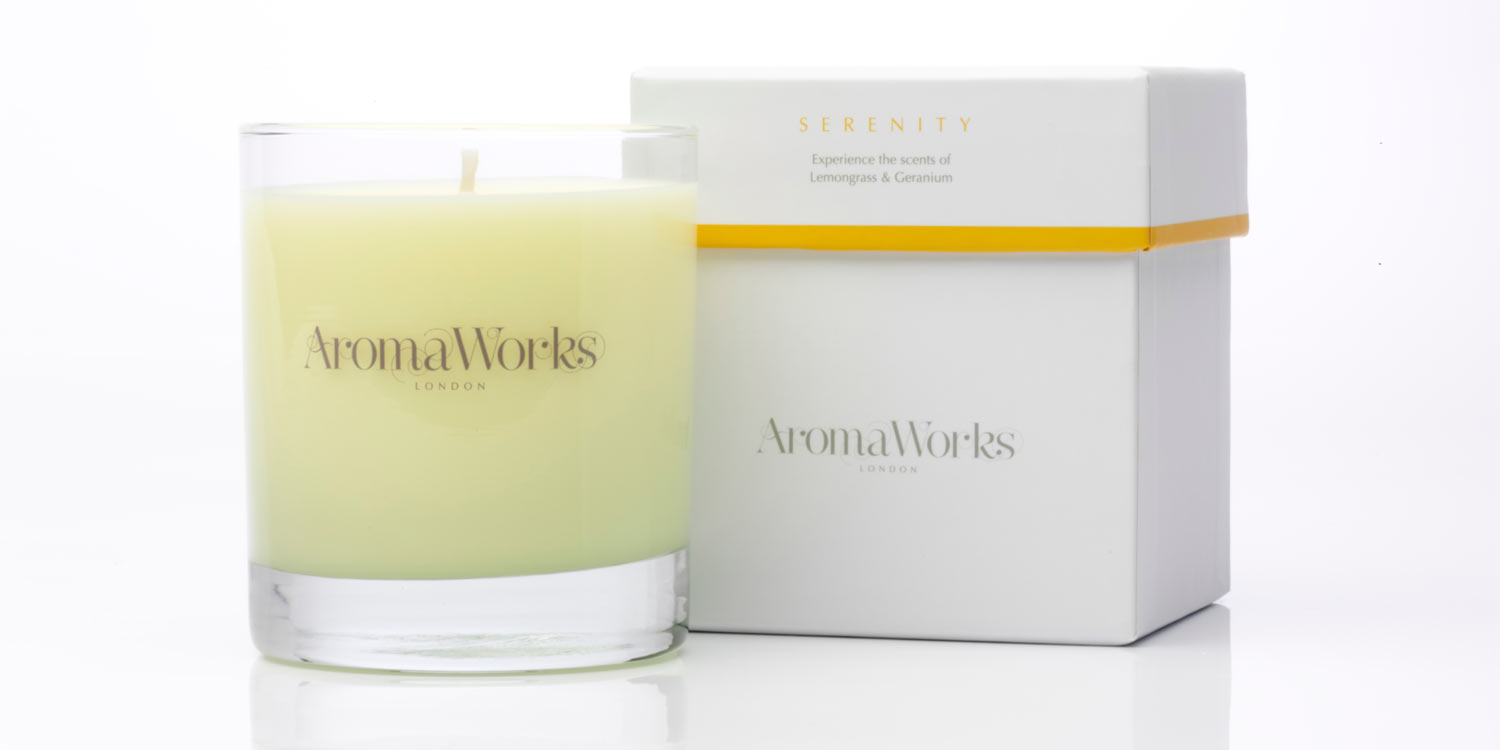AROMA WORKS Serenity Candle, £32