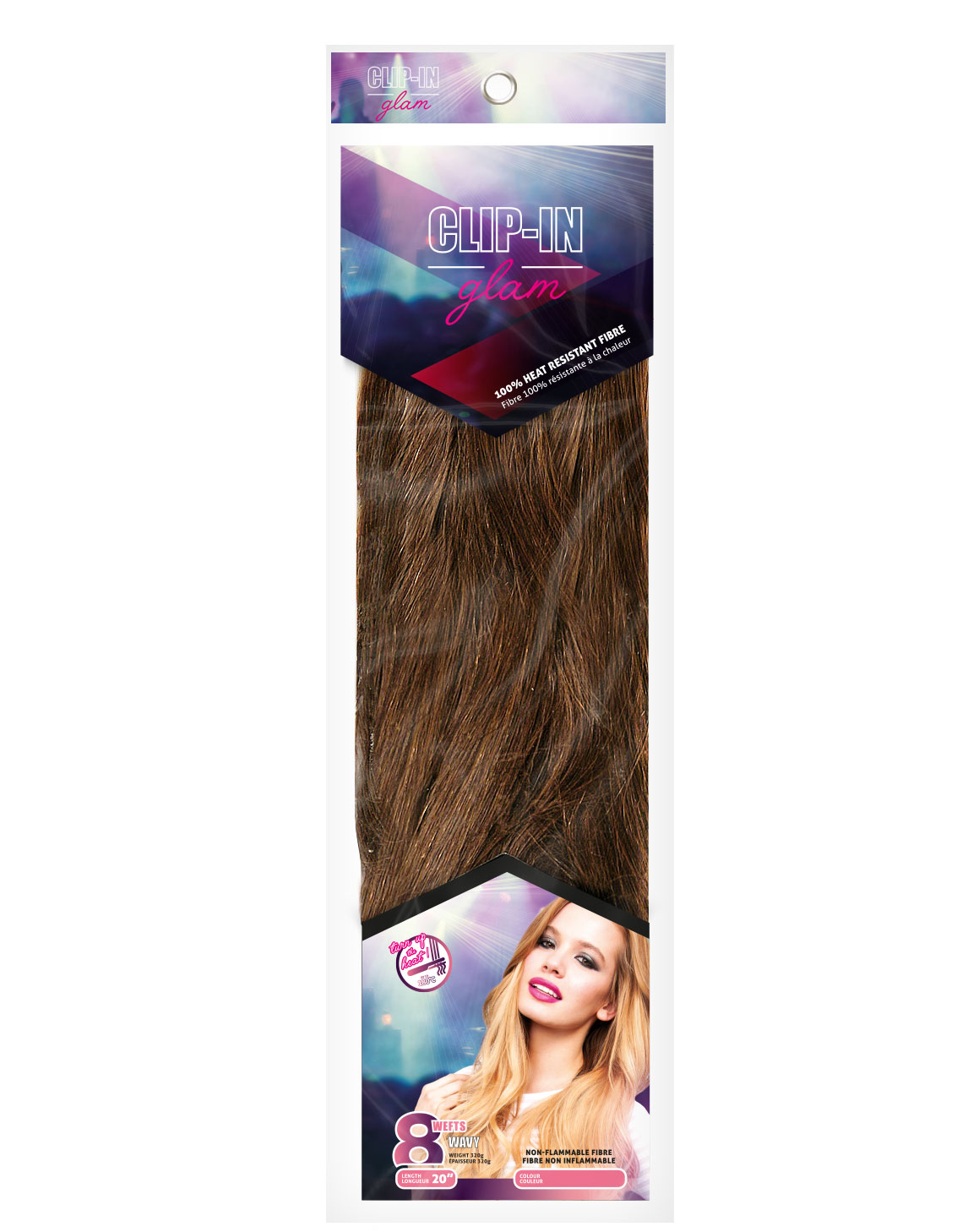 CLIP-IN GLAM 8 Wefts Wavy, £21.49