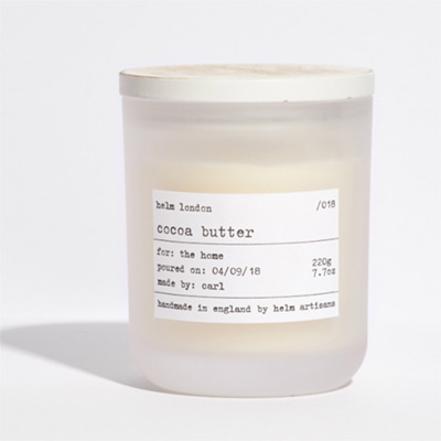 HELM LONDON Cocoa Butter Luxury Candle, £29