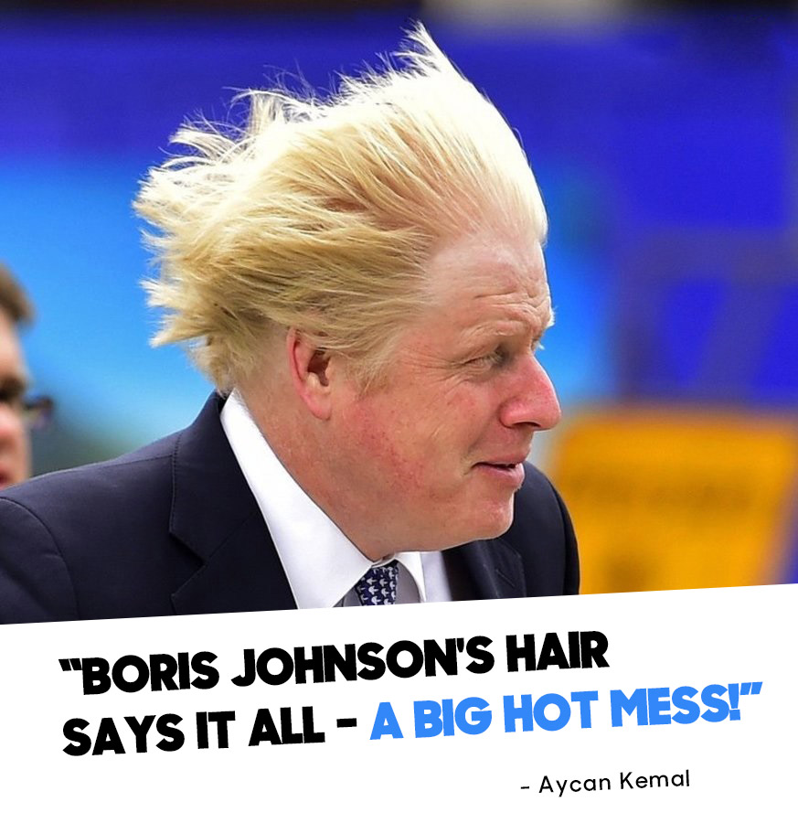Boris Johnson's hair