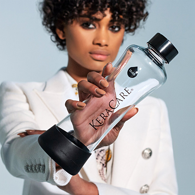 KeraCare 500ml water bottle designed by Equi