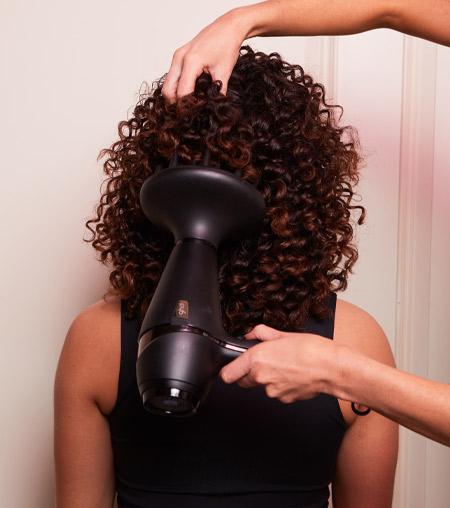 ghd festive hair tutorial - step 1