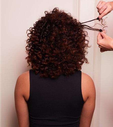 ghd festive hair tutorial - step 2