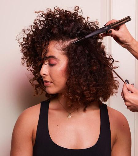 ghd festive hair tutorial - step 4