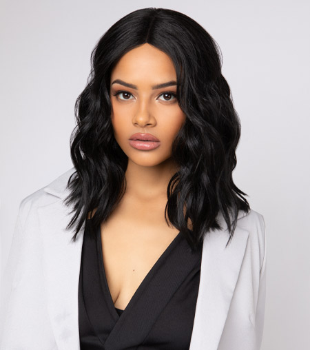 The Feme Collection Lace Wig - Teased Midi