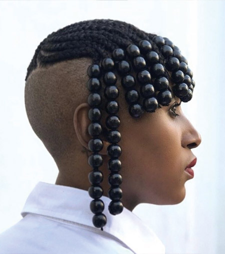 Beaded hairstyle - Pinterest