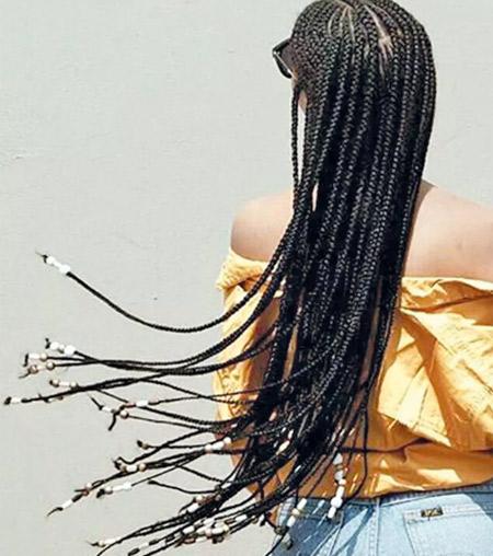 Beaded braids - Pinterest