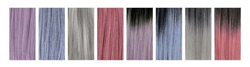 X-Pression Ultra Braid new colour chart