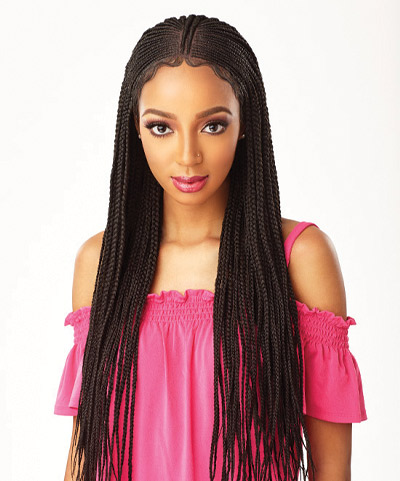 Cloud 9 Braided Lace Wigs Fulani Cornrow
