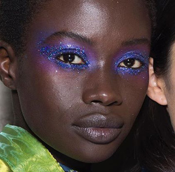 Cool toned make-up - House of Holland