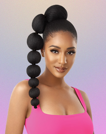 Afro Puff Bubble Pony