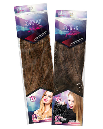 Clip-in Glam hair extensions