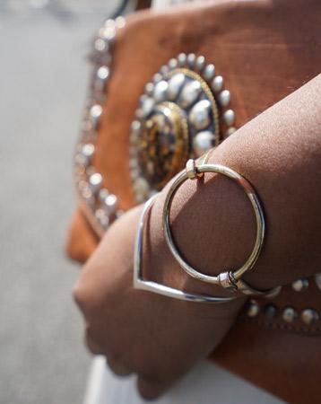 Summer style: embellished bag and bangles