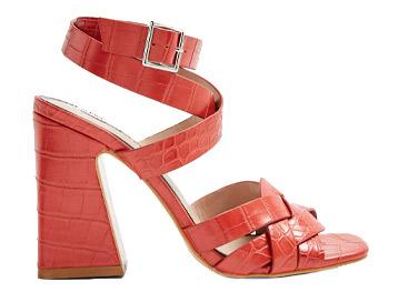 Miss Selfridge Red Stitch Block Heels, £32