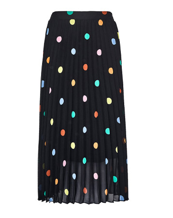 Dorothy Perkins Black Multi Spot Print Pleated Midi Skirt, £32