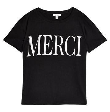 Topshop Merci T-shirt in Black, £14.99