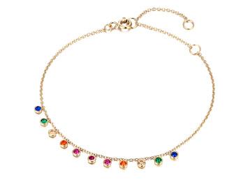 Seol + Gold Rainbow CZ Bracelet, £24.95