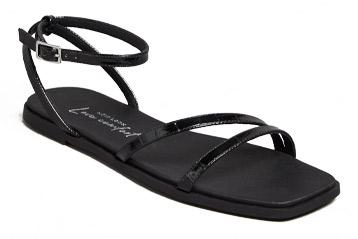 New Look Black Faux Croc Strappy Square Toe Sandals, £19.99