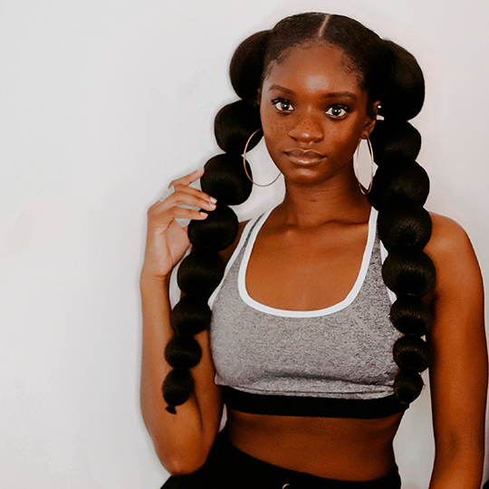 Pretty Quick Afro Puff Bubble Ponytails