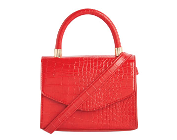 Primark Red Croc Detail Handbag, £6