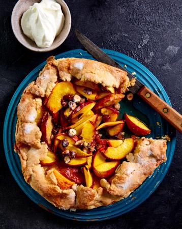 Nectarine & Hazelnut Open Crust Pie