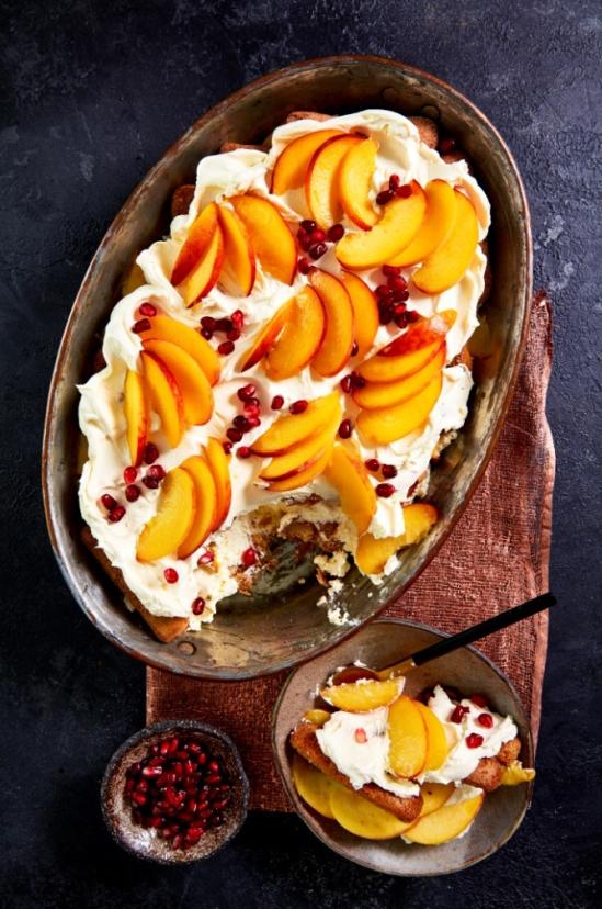 South African Peach & Amaretto Tiramisu