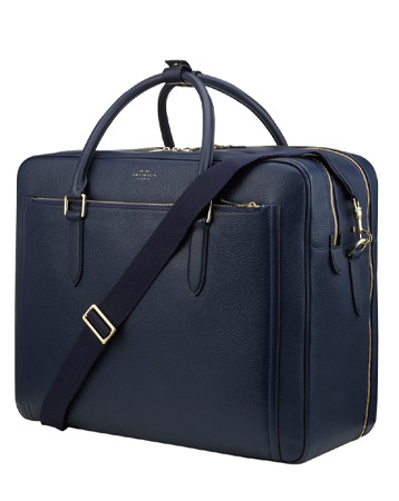 Smythson Burlington Zip Front Briefcase