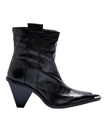 Topshop Mellie Black Toe Cap Boots